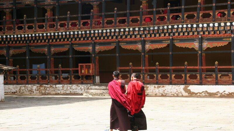 Bhutan-algemeen-monikken in tempel