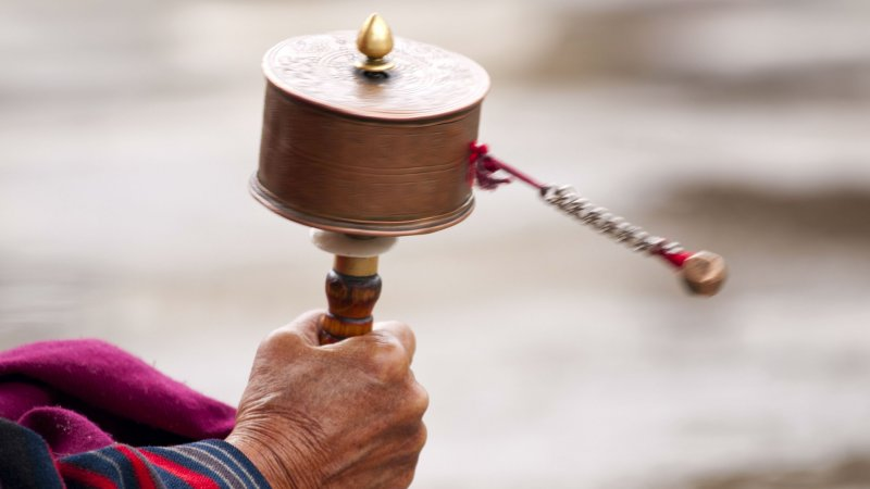 Bhutan-algemeen-ritueel-monnik