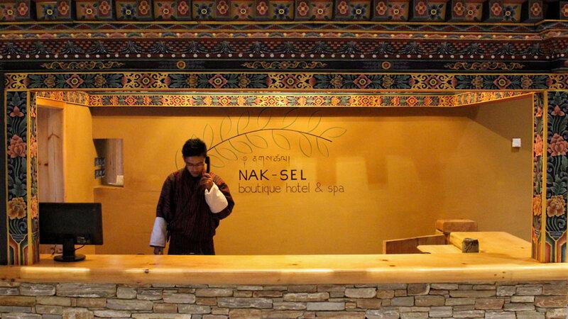 Bhutan-Paro-Hotel-Naksel Resort-Receptie