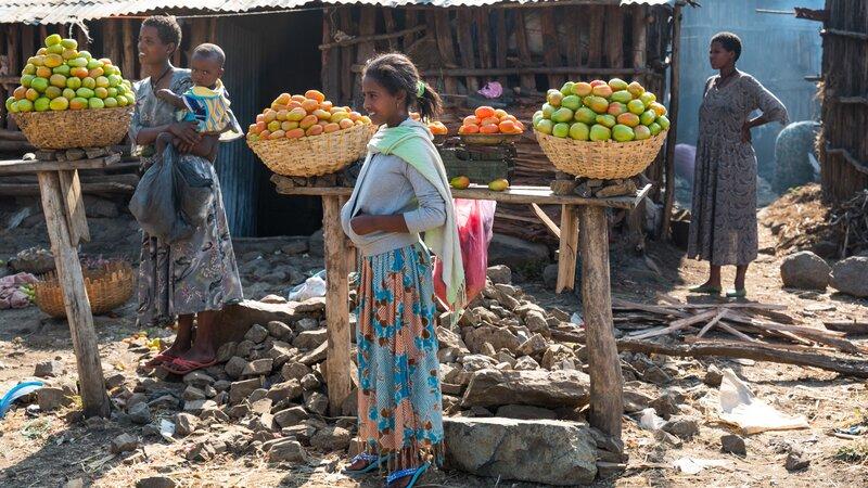 Ethiopië-Bahir Dar-Lokale markt
