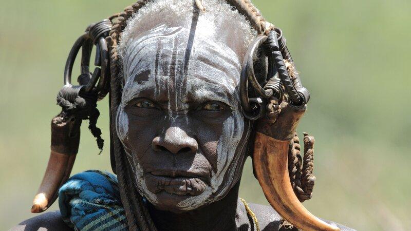 Ethiopië-Omo Vallei-stammen