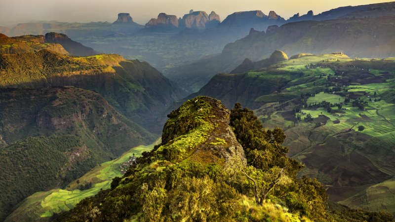 Ethiopië-Simien gebergte-uitzicht