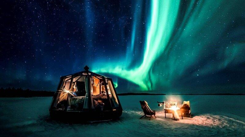 Finland-Lapland-Ivalo-Wilderness-Hotel-Nangu-lake-inari-aurora-hut-noorderlicht