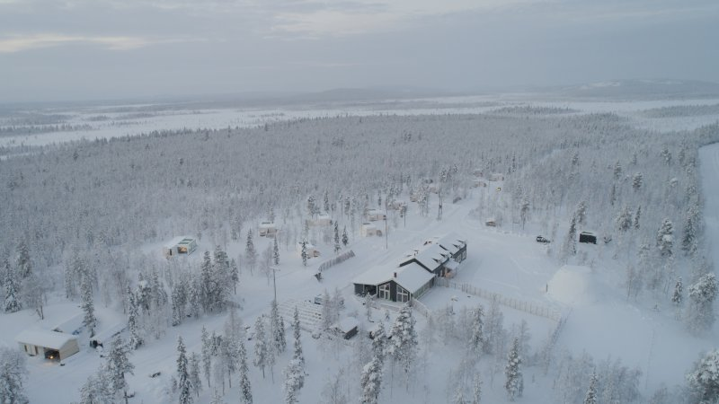 Finland-Lapland-Levi-kongas-Northern-Lights-Ranch-bovenaanzicht