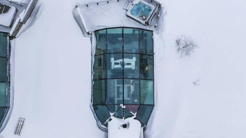 Finland-Lapland-Levi-levin-iglut-golden-crown-suite-igloo-bovenaanzicht-rsz