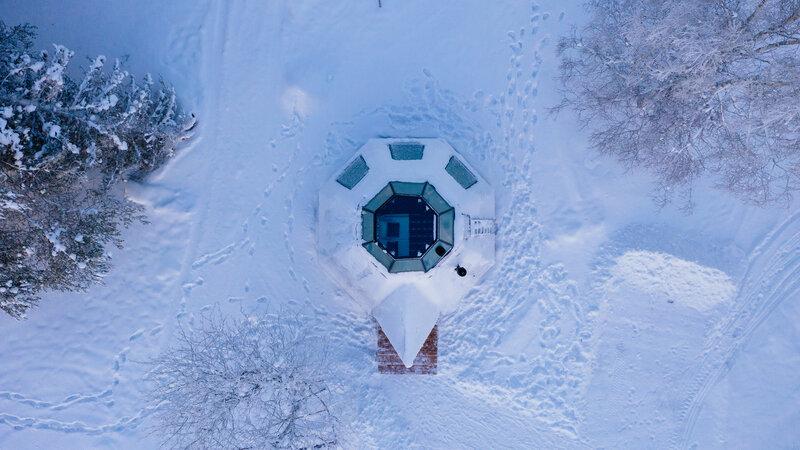 Finland-Lapland-Rovaniemi-Apukka-resort-komsio-suite-luchtfoto
