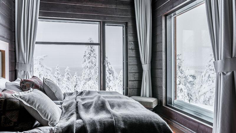 Finland-Lapland-Rovaniemi-Octola-Lodge-slaapkamer
