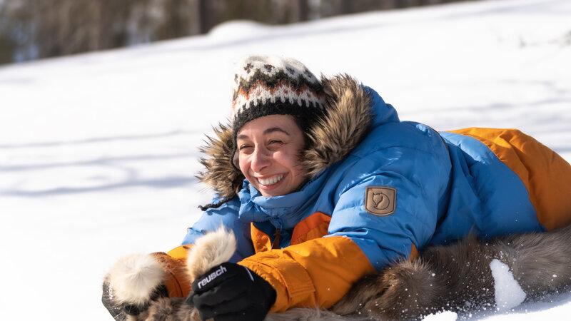 Finland-Lapland-Saariselka-Javri-Lodge-sleeën