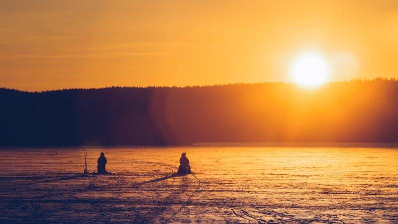 Finland-Zweden-Lapland-ijsvissen