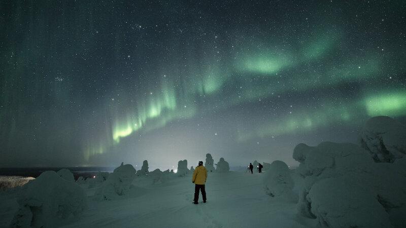 Finland-Zweden-Lapland-Levi-sneeuwschoen-wandelen-noorderlicht