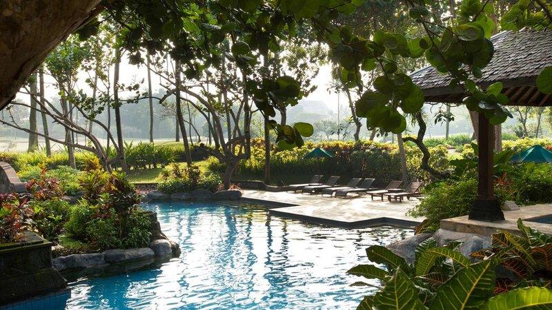 Indonesië-Java-Yogyakarta-Hyatt-Regency-zwembad
