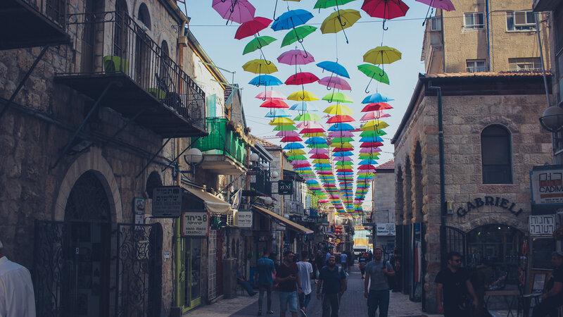 Israël-Jeruzalem-nieuwe stad