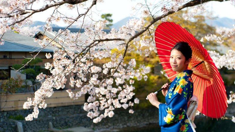 Japan-algemeen-geisha met paraplu
