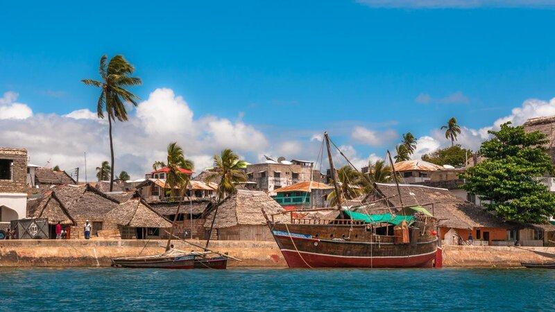 Kenia-Lamu-oude stad aan het water