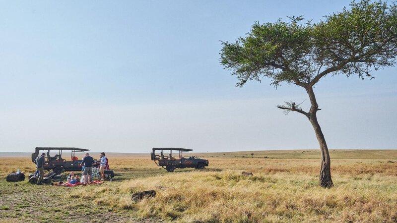 Kenia-Masai Mara-Emboo River Camp-picknick in de bush-min
