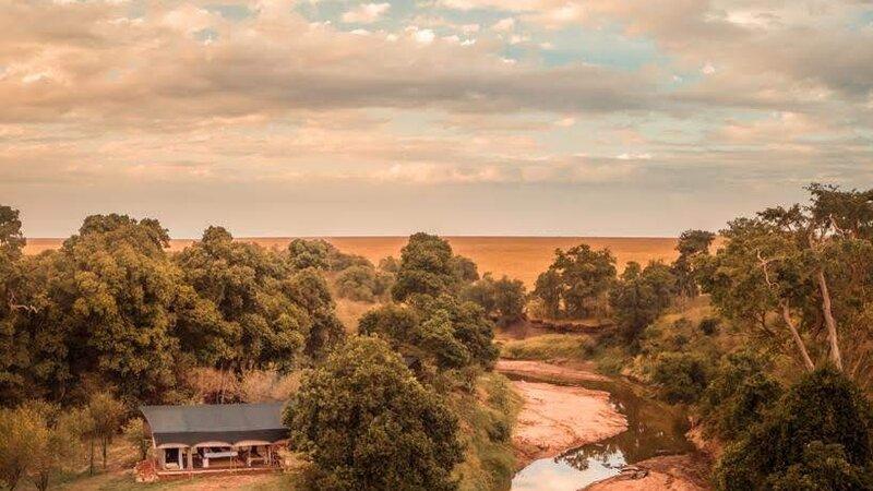 Kenia-Masai Mara-Emboo River Camp-zicht vanuit de lucht-min