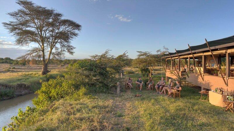 Kenia-Ol Pejeta-Ol Pejeta Bush Camp-ligging naast rivier