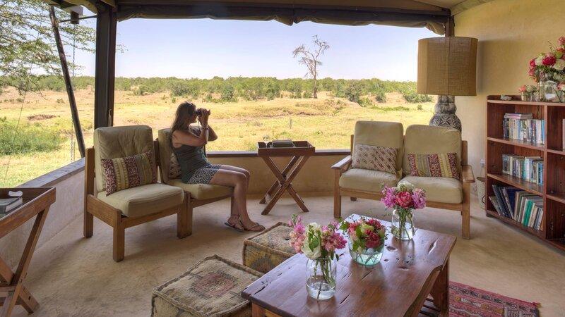 Kenia-Ol Pejeta-Ol Pejeta Bush Camp-lounge area