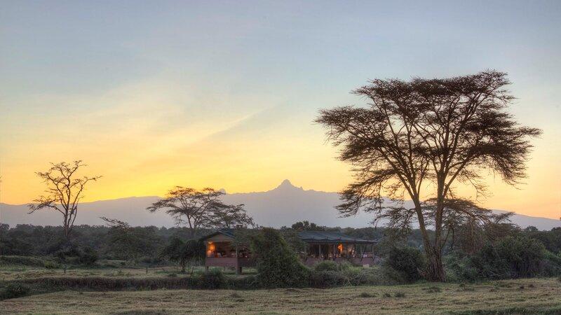 Kenia-Ol Pejeta-Ol Pejeta Bush Camp-ochtendzicht op het kamp