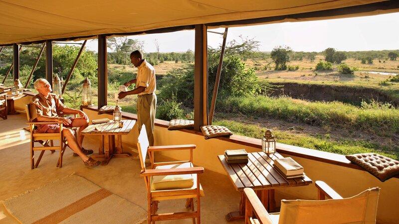 Kenia-Ol Pejeta-Ol Pejeta Bush Camp-ontbijt geserveerd