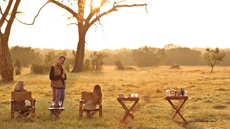 Kenia-Ol Pejeta-Ol Pejeta Bush Camp-sundowners