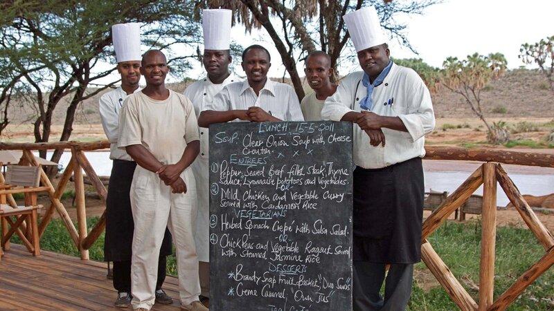 Kenia-Samburu Game Reserve-Elephant Bedroom Camp-chefs