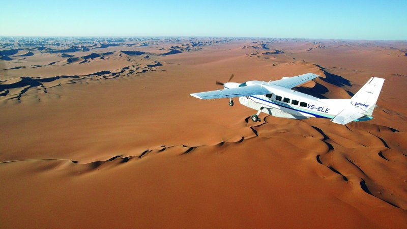 Namibië-algemeen-vliegtuigje