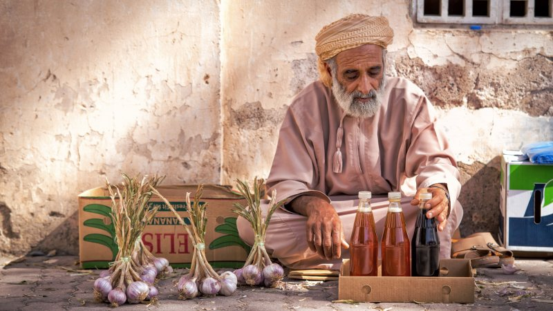 Oman-Nizwa-lokale man