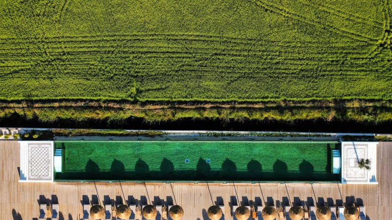 Porto-Alentejo-Hotel-Quinta-Da-Comporta-luchtfoto-zwembad