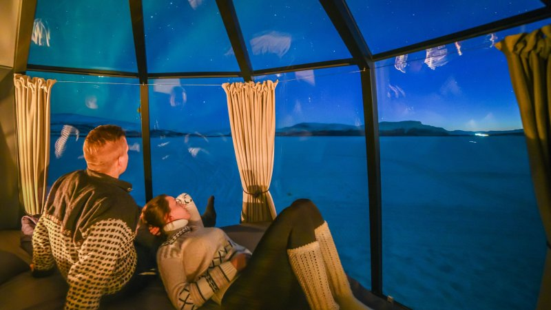 Amazing glamping in Fins Lapland