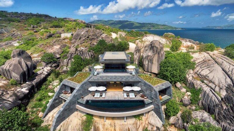 Seychellen-Félicité-Six-Senses-Zil-Payson-luchtfoto-design-hotelgebouw