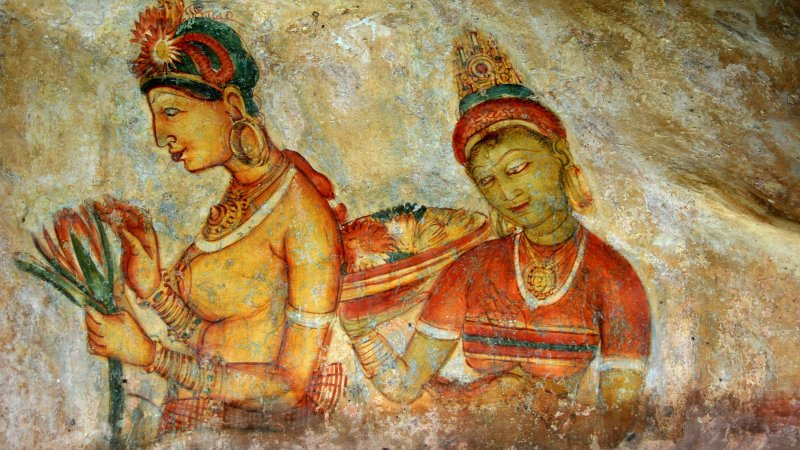 Sri Lanka-Sigiriya-hoogtepunt-schilderingen