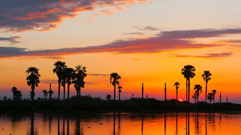 Tanzania-Selous-zonsondergang