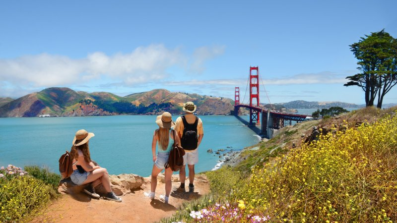 Verenigde staten - USA - VS - San Francisco - Golden gate Bridge (2)