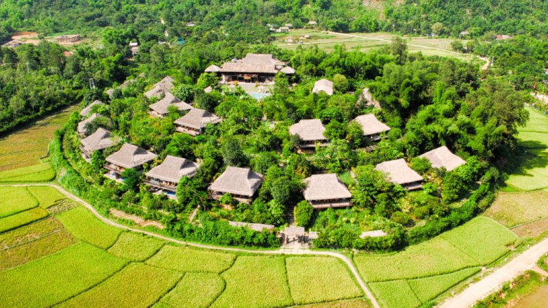 Vietnam-Mai-Chau-Ecolodge-Mai-Chau-luchtfoto