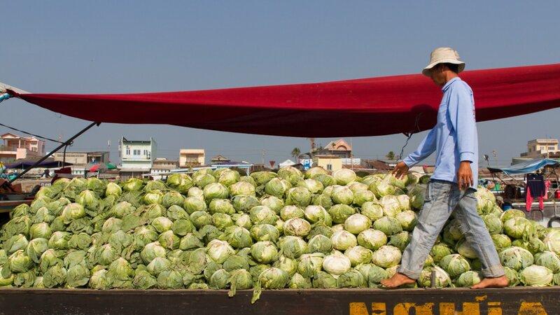 Vietnam-Mekong Delta-drijvende markt