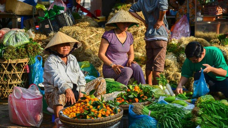Vietnam-Mekong Delta-lokale markt