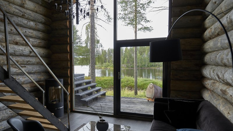 Zweden-Lapland-Arctic-Retreat-zomer-cabin-interieur