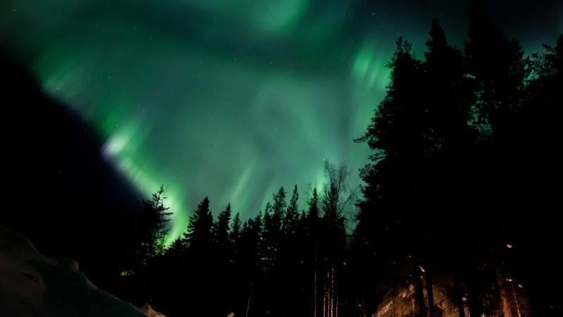 Zweden-Lapland-Harads-Loggers-Lodge-buitenaanzicht-noorderlicht