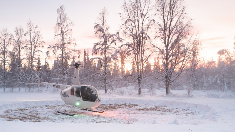Zweden-Lapland-Harads-Loggers-Lodge-helicopter
