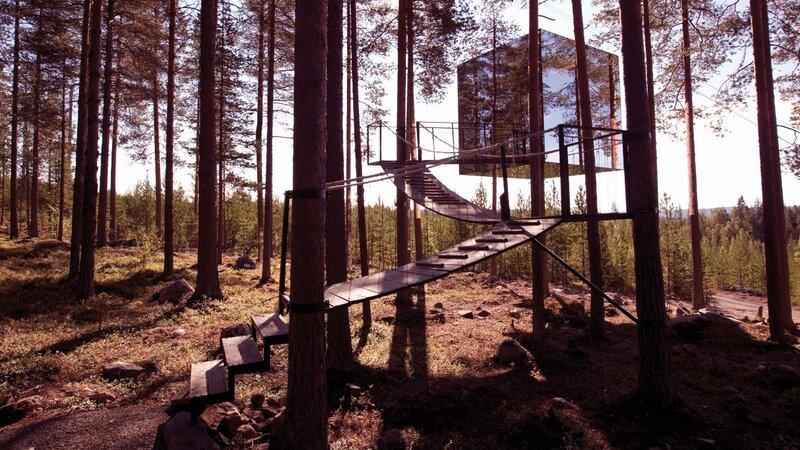Zweden-Lapland-Harads-mirror-cube-zomer-2