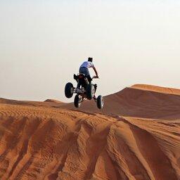 Abu Dhabi-woestijn quad biking
