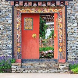 Bhutan-algemeen-deur-pagode