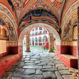 Bulgarije-Orthodoxe Rila klooster-toegangspoort