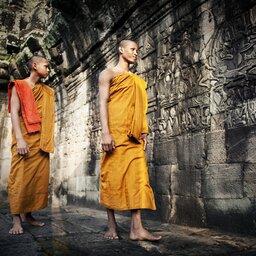 Cambodja-algemeen-monks in tempel