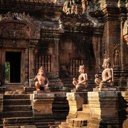 Cambodja-Siem Reap-Banteay Srei tempel