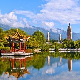 China-Dali-sierlijke tempels in Dali Yunnan