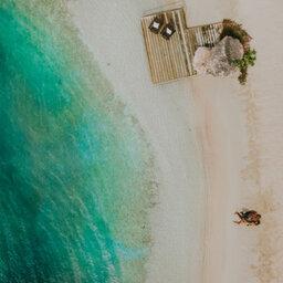 Curacao-Hotel-Baoase-koppel-strand-luchtfoto