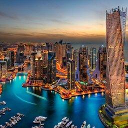 Dubai-Marina uitzicht