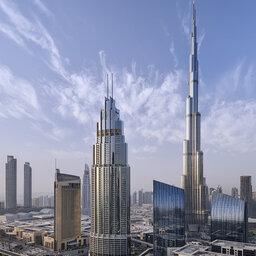 Dubai-The Address Boulevard-zicht hotel